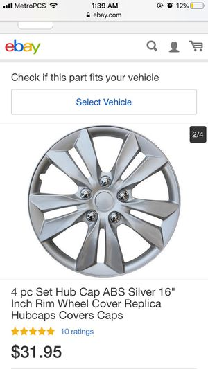 Silver hubcaps 16' for Sale in Fairfax, VA