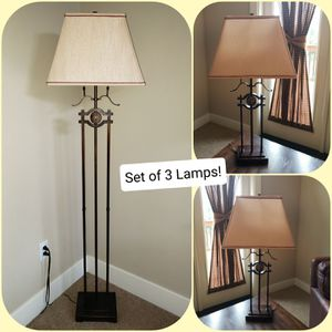 Lamp Set of 3! for Sale in Snohomish, WA