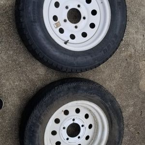 2 Tractor wheels And Tires St175/80 D 13 for Sale in Houston, TX