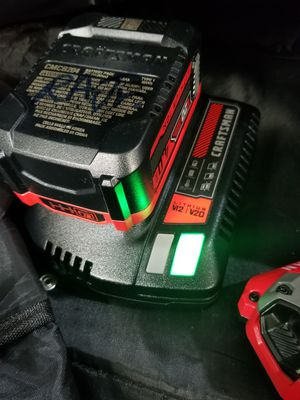 Craftsman batterys, chargers and bag with brushless tool for Sale in Hesperia, CA