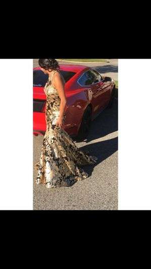 Gold/Black Prom Dress for Sale in Haines City, FL