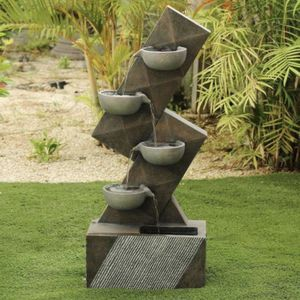 Brand New Cement/Resin Modern Tiered Pots Outdoor Cascade Fountain for Sale in Walnut, CA