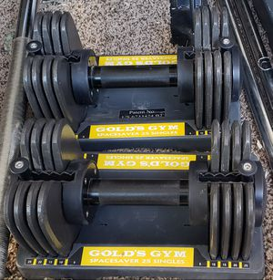 Dumbbell weights adjustable to 25lb each for Sale in Peoria, AZ