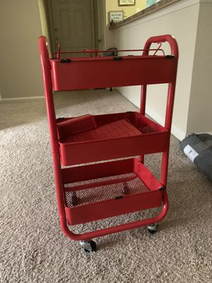 Red metal cart for Sale in Atlanta, GA
