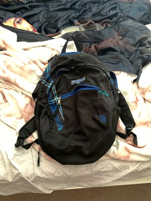 Black and blue jansport backpack for Sale in Annandale, VA