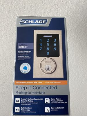 Schlage Connect electronic touch screen deadbolt door lock for Sale in Sugar Land, TX