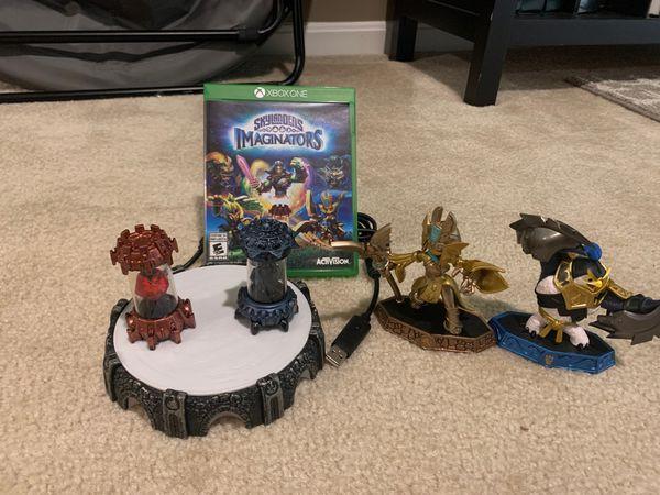 Skylanders Imaginators for the Xbox One with figures