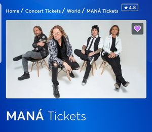Mana 4 tickets section 109 Nov 22 for Sale in Baldwin Park, CA
