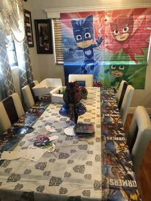 PJ Masks birthday party/decor for Sale in West Park, FL