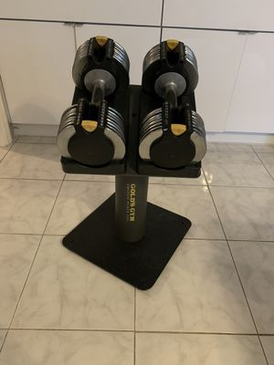 Adjustable Dumbbells with Stand for Sale in Boca Raton, FL