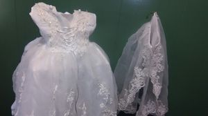 Little girls flower girl dress for Sale in Bartlesville, OK