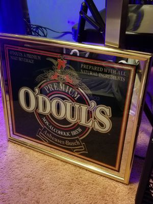 O'doul's non-alcoholic brew bar mirror for Sale in Gloucester, MA