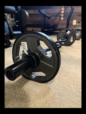 Brand new Olympic EZ Easy Bicep Super curl bar barbell 35 lb weight set (not negotiable) for Sale in Chula Vista, CA