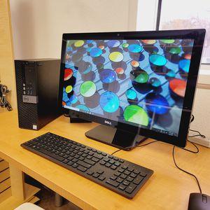 "Dell Optiplex 3046 Business PC-24"" HD Touch Screen -Win10PRO-Intel i5 6thGen-16GB Ram-256GB SSD for Sale in Fort Worth, TX"