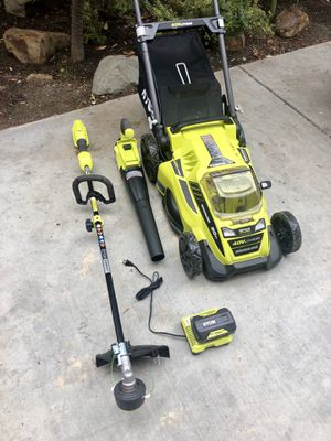 Ryobi 40V lawn mower, blower, weed wacker/eater brand New for Sale in San Diego, CA