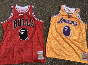 bape jerseys size XL Lakers and bulls for Sale in Fort Belvoir, VA