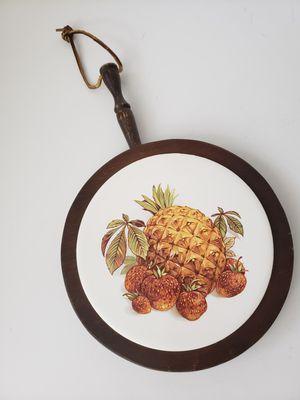 VTG hot plate Trivet ceramic/wooden Pineapple for Sale in Orlando, FL