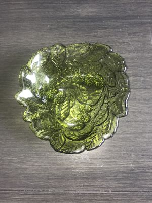 Antique Glass Bowl With Detailed Design for Sale in Marietta, GA