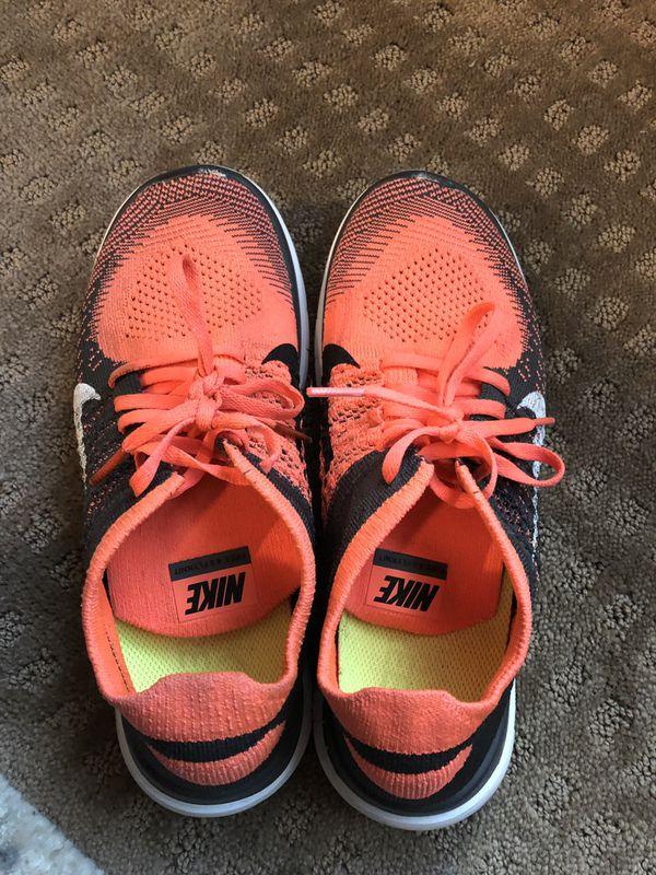 Pink Neon Nike Tennis Shoes