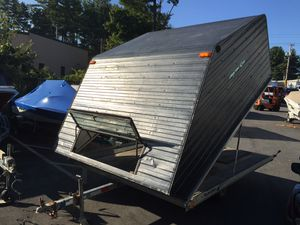 2000 Yacht Club 10x101 enclosed 2 place clam shell trailer will trade for Sale in Westford, MA