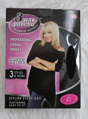 3 Ways to Wear Poncho Top, Sizes S-3XL , NEW, Never Used for Sale in Roxbury Township, NJ