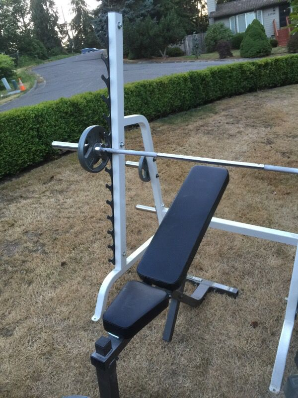 Parabody Heavy Duty Weight Bench And Squat Rack Weights