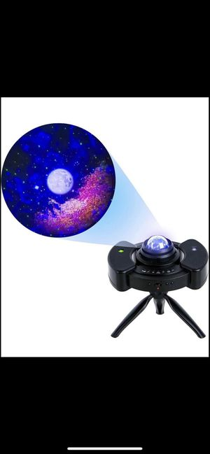 Star Projector w/Moon Stars LED Nebula Cloud for Adults Baby Kids Room/Game Room Theatre, 4 in 1 Laser Galaxy Projector with Bluetooth Music Speaker for Sale in Colonial Heights, VA
