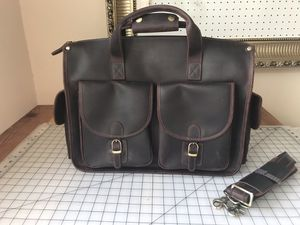 Extra large real leather messenger bag/ briefcase for Sale in Alhambra, CA