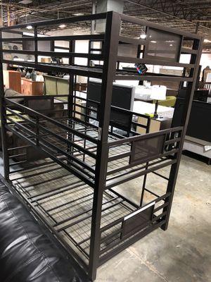 Brand New Black Metal Triple T/T Bunk Bed for Sale in Nashville, TN