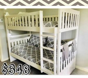 Elegant twin over twin bunk bed color choice for Sale in Scottsdale, AZ