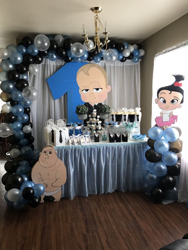Boss baby party decorations birthday boy for Sale in Tampa ...