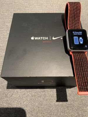 Apple Watch Series 3 Nike 42mm Cellular GPS Silver Crimson for Sale in Paso Robles, CA