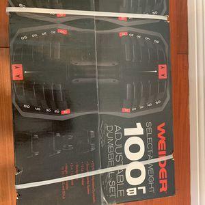 100lb Adjustable Dumbbell set for Sale in Los Angeles, CA