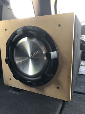 """10""""audiobahn sub with box and JBL amp for Sale in Traverse City, MI"""
