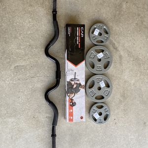Curl Bar and Weights for Sale in Claremont, CA