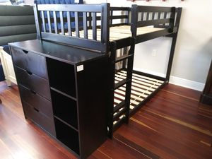Twin Size Bunk Bed With Dresser Chest for Sale in Brandon, FL