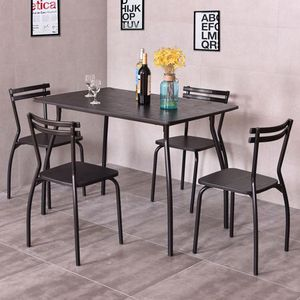 5 Piece Dining Set Table And 4 Chairs Home Kitchen Room Breakfast Furniture for Sale in Las Vegas, NV