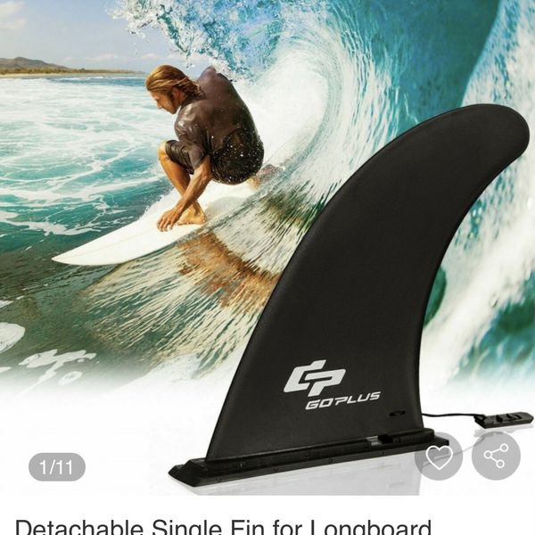 Detachable Single Fin for Longboard Surfboard Paddleboard