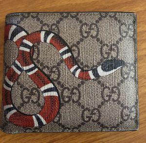Gucci Kingsnake Beige leather wallet for Sale in Kent, WA