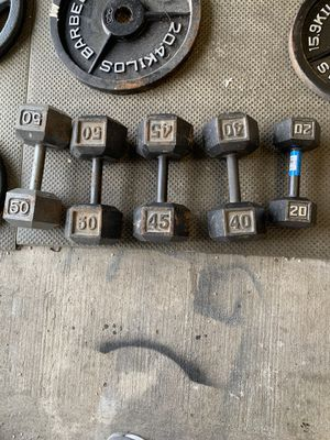 Dumbbells $1.60 per pound or $315 for all! for Sale in Boonsboro, MD
