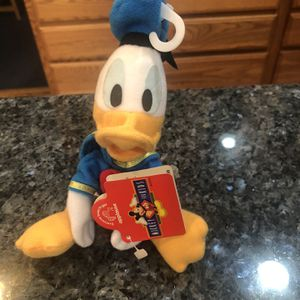 Vintage Disney Donald Duck Plush Size 7 inches Tall brand New With Tags for Sale in Lakewood, CA