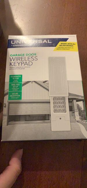 Garage Door Wireless Keypad for Sale in West Bloomfield Township, MI