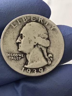 1939 Washington Silver Quarter for Sale in IL, US