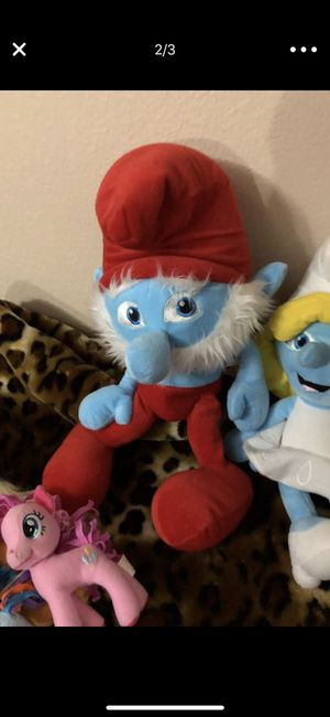 Papa smurf and smurfette for Sale in Poway, CA