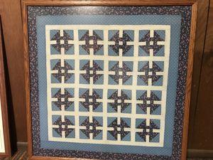 Patchwork quilt framed for Sale in Lakeland, FL