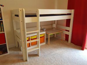White Wooden Loft Bed for Sale in Rockville, MD