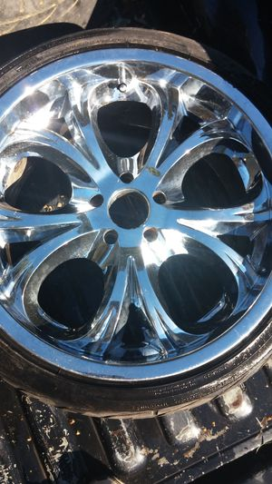 Two sets of rims and tires for Sale in Houston, TX