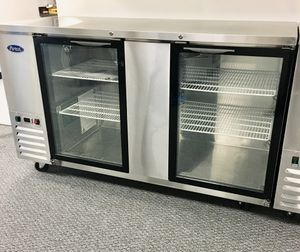Commercial double glass door back bar refrigerator for Sale in Kent, WA