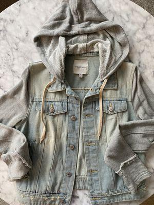 Hoodie Denim Jacket for Sale in Livonia, MI