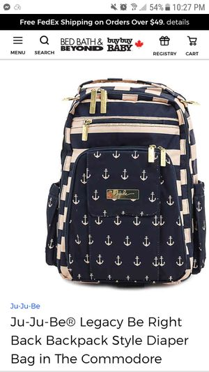 Ju ju be diaper bag with anchors for Sale in Homestead, FL